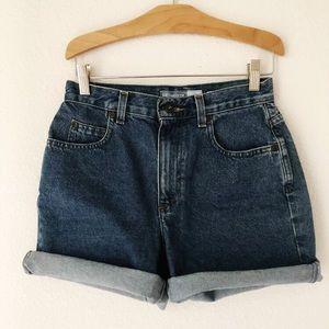 "Vintage 27"" waist denim high waisted jean shorts"